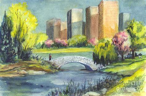 Nyc Duvet Spring In Central Park N Y C Painting By Carol Wisniewski
