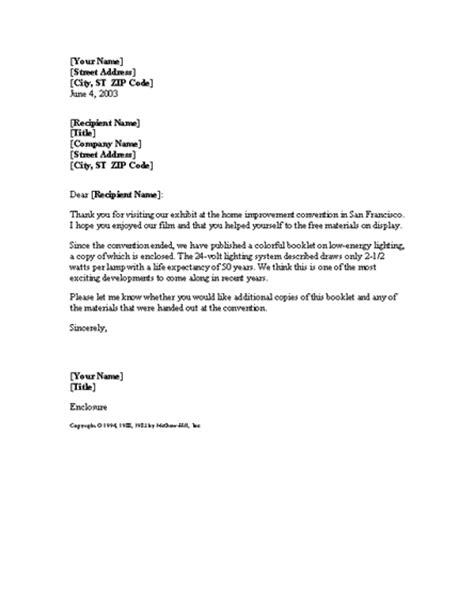 thank you letter following sle best photos of sle letter follow up marketing