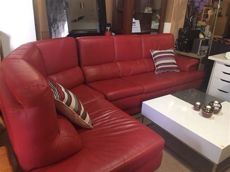 red leather corner sofa new2you furniture second hand sofas sofa beds for the
