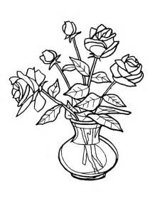 Flowers In Vase Coloring Pages Flowers To Colour Clipart Best