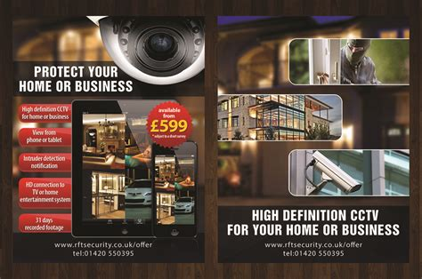 leaflet design for cctv modern professional flyer design for david gregory by