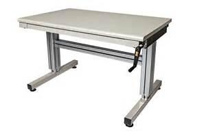 Adjustable Height Work Table 2 Leg Hand Crank Adjustable Height Work Table Ergosource