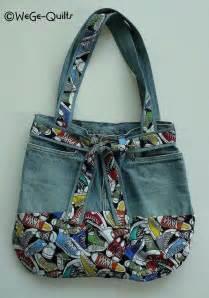 Upcycled Leather Handbags - bolsa con pantalon de mezclilla bolsas pinterest
