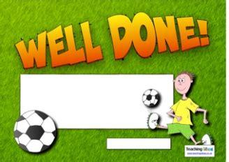 football certificates templates uk classroom rewards teaching ideas