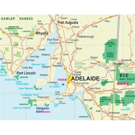 south australia map south australia road map