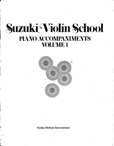 Suzuki Violin Pdf by Suzuki Violin School Piano Accompaniments Volume 1