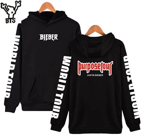 Hoodie Purpose Tour Bieber מוצר bts justin bieber purpose tour new brand sweatshirt