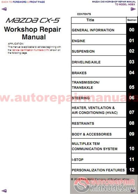 how to download repair manuals 2009 mazda cx 9 transmission control mazda cx 5 2012 workshop repair manual auto repair manual forum heavy equipment forums