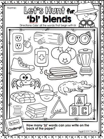L Blends Coloring Pages by S Blends Coloring Pages Coloring Page