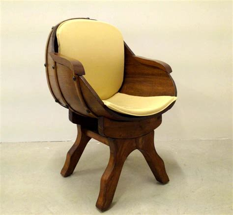 barrel armchair oak barrel armchair 1970s for sale at pamono