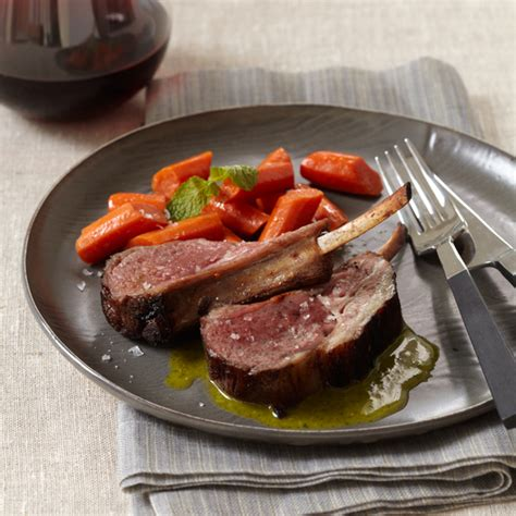 Marinated Rack Of Recipe by Marinated Rack Of With Honey Mint Vinaigrette Recipe Wolfgang Puck Food Wine