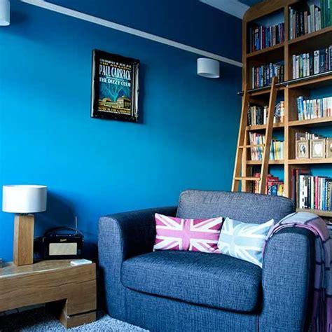 bold blue family living room family living room design
