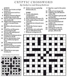usa today crossword help national post cryptic crossword forum saturday april 23