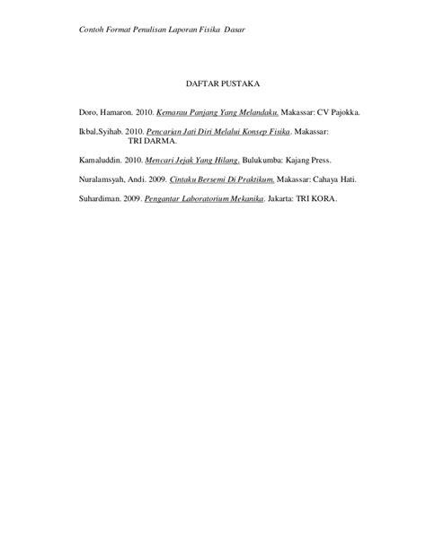 format laporan hasil pengamatan contoh format laporan