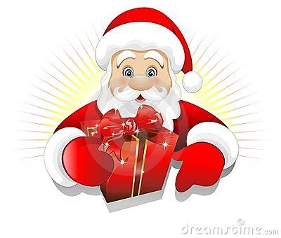 imagenes vectorizadas santa claus christmas santa claus with gift present background royalty