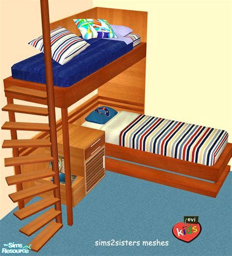 2 Bunk Beds Bunk Bed For Sims 2 Home Delightful