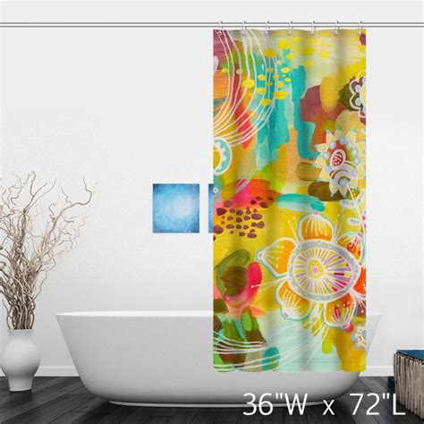 colorful shower curtain colorful watercolor floral print shower curtain custom