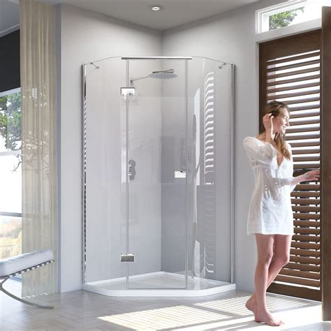 Shower Doors Direct Matki New Illusion Quintesse Shower Enclosure With Integrated Shower Tray Uk Bathrooms
