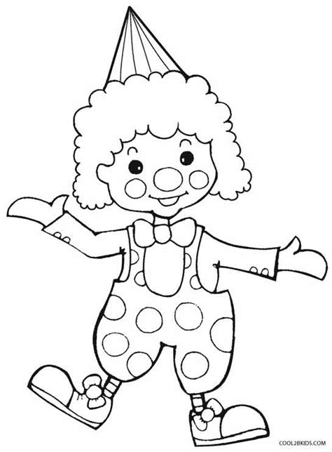 Printable Clown Coloring Pages For Kids Cool2bkids Clown Coloring Page