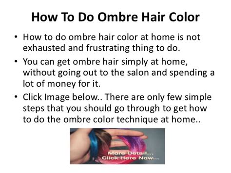 how to do an ombre color how to do ombre hair color