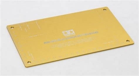 95201 mini 4wd hg aluminum setting board gold tamiya