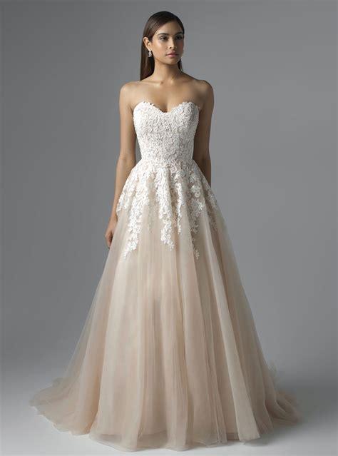 M1650L CARRIS MIA SOLANO strapless princess lace wedding