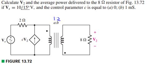 resistor calculator v2 31 calculate v2 and the average power delivered to th chegg