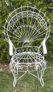 Twisted wire peacock empress garden chair furniture gazebo
