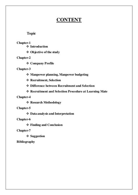 Mba Project Report On Manpower Planning by Manpower Planning Manpower Budgeting Recruitment