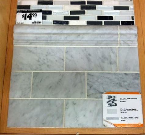 carrara marble subway tiles backsplash tiles home 208 best inspiring tile images on pinterest bathroom