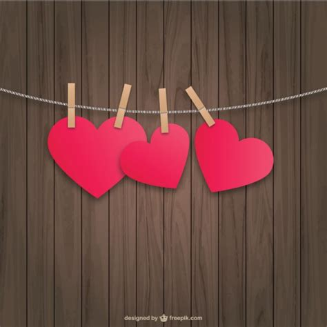 hanging pictures hanging hearts vector free download