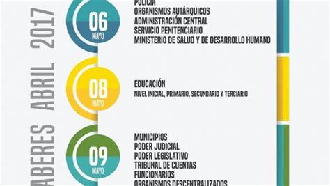 cronograma de pagos administracion publica pcial chubut abril 2016 el s 225 bado 6 comienza el cronograma de pagos trentinafm
