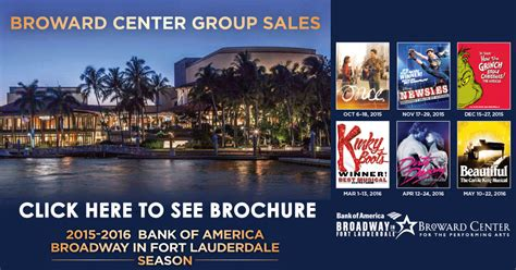broward center for the performing arts schedule