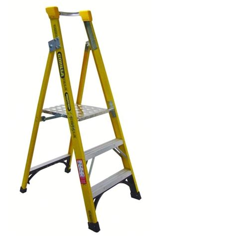 safety step stool bunnings extension ladders aluminium and folding safety step ladder