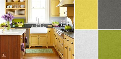 yellow kitchen color schemes a palette guide for kitchen color schemes decor and paint