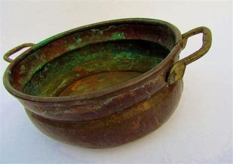 Handmade Copper Pots - antique handmade copper pot lots of patina copper pots