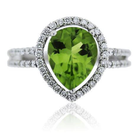14k white gold and peridot ring boca raton