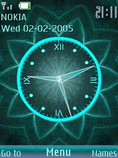 clock themes s40 download 3d digital flower clock s40 theme nokia theme