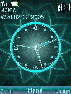 flower clock themes software download 3d digital flower clock s40 theme nokia theme