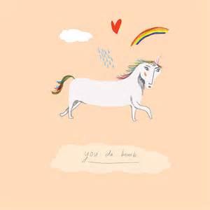 Happy Bidet Card You Da Bomb Unicorn Card By Nicola Rowlands