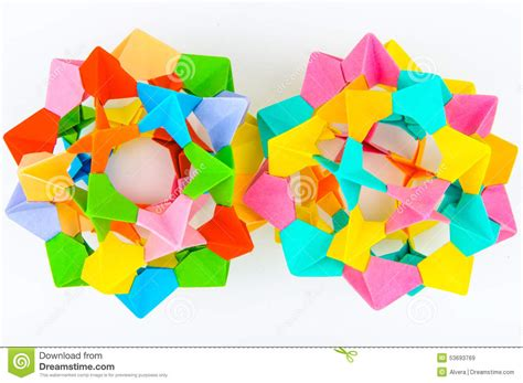 origami japanese paper folding web page origami modular sphere stock photo image 53693769