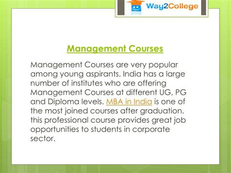 Executive Mba Without Undergraduate Degree In India by Ppt Best Course After 12th Powerpoint Presentation Id