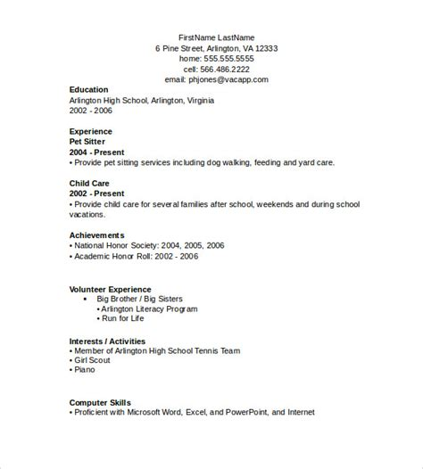 Simple Resume Template In Microsoft Word Word Resume Templates 7 Sles Exles Format Sle Templates