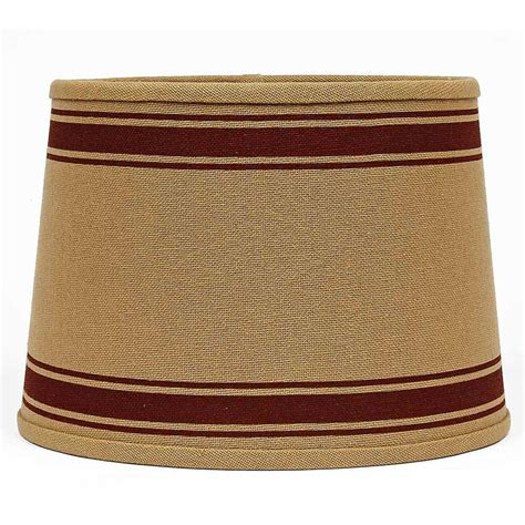 burlap drum l shade 10 inch bella trace red stripe l shade by raghu the