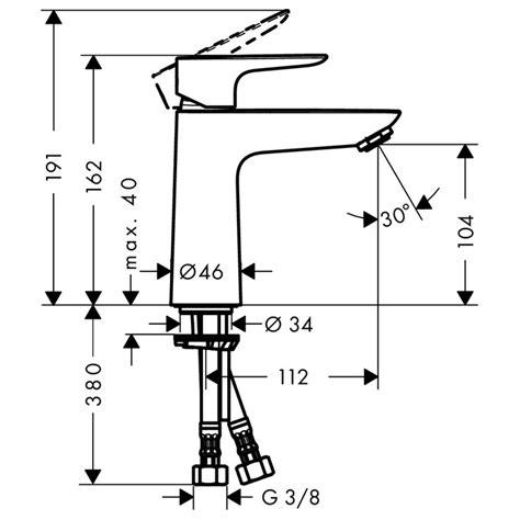 Lever Push Rx King Set hansgrohe talis e 110 single lever basin mixer with push
