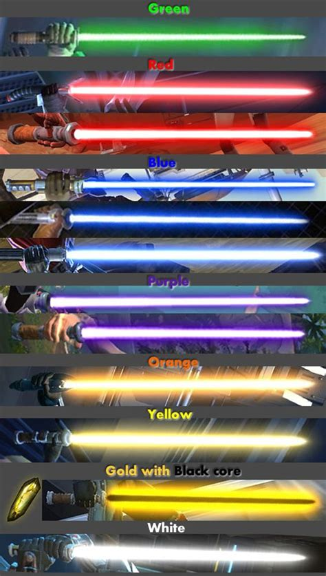 kotor 2 lightsaber colors lightsabers lightsaber ideas bagues d