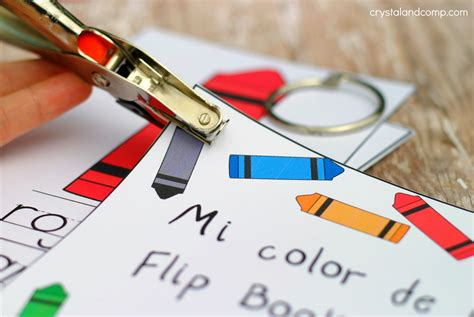 how to make flip cards teach colors to in