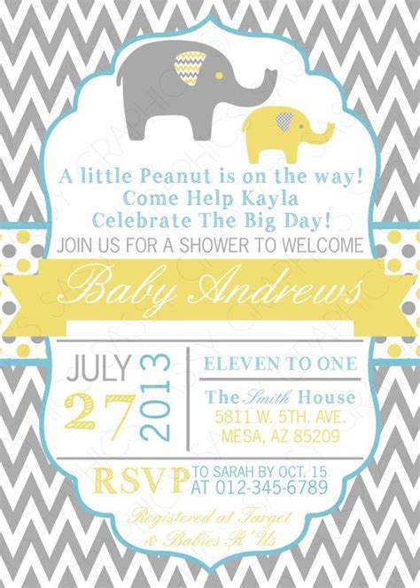 Elephant Baby Shower Invites by Hooray Papery Baby Elephant Baby Shower Invitations