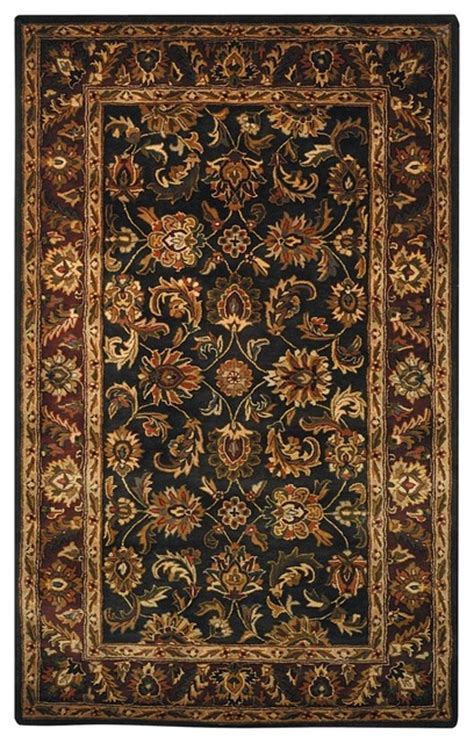 Hallway Area Rugs Traditional Classic Hallway Runner 2 3 Quot X8 Runner Burgundy Black Area Rug Traditional
