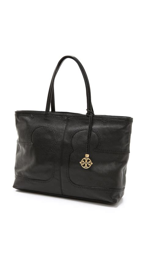 minimalist look with tory burch a constellation lyst tory burch amalie simple tote in black